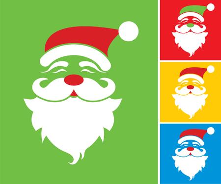Christmas card and Santa Claus