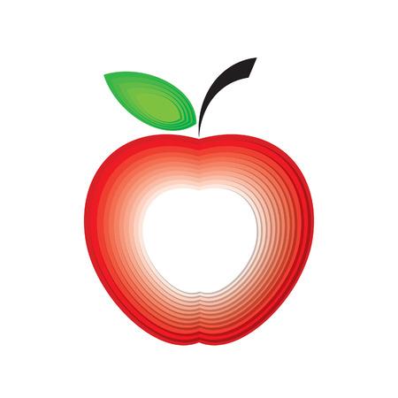 Illustration of paper apple