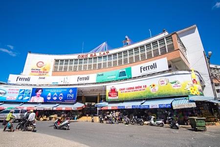 dalat: Dalat center market in sunshine. DALAT, VIETNAM - MAY 15, 2015