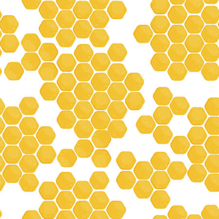 Seamless pattern with honeycomb hexagons. Illustration for print, product, fabric design Illustration
