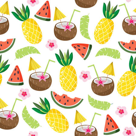 Seamless vector tropical pattern