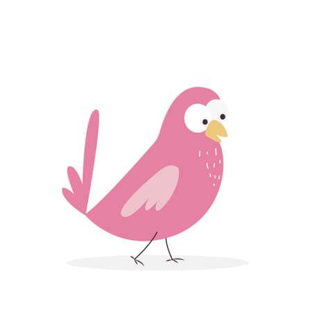Vector illustration of a cute little bird Иллюстрация