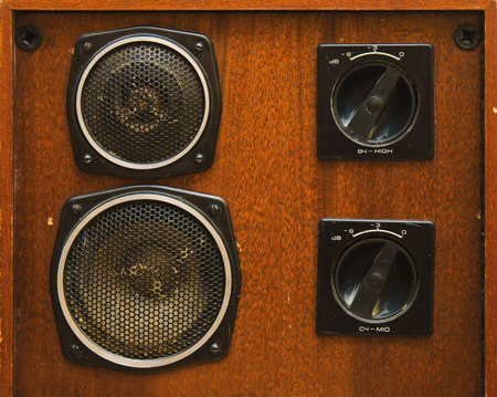 home audio: Very old audio system in the home