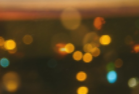 pixeled: Pixeled beautiful bokeh of the evening city