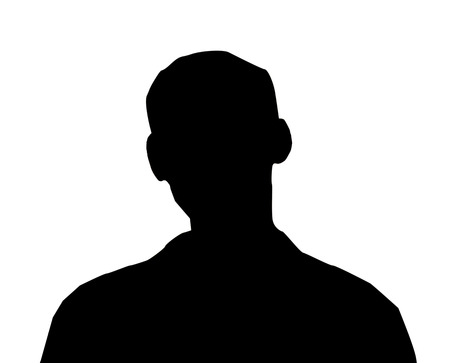 unnamed: Unknown male person illustration on the white isolated background Stock Photo