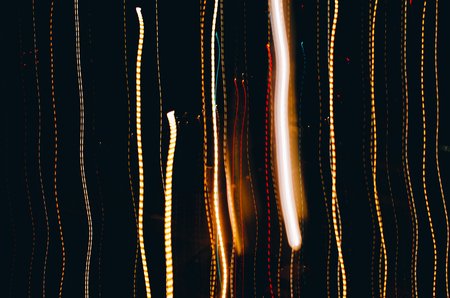 light painting: Abstract colorful backdrop, light painting photography - freezelight on the black background Stock Photo