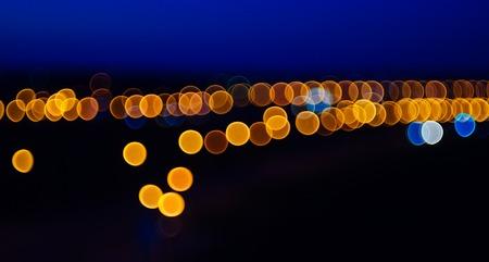 Blurry lights bokeh of the night city