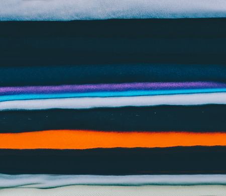Stack of the man cloth in room Stock Photo