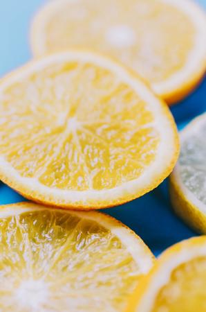 Fresh summer citrus on isolated background