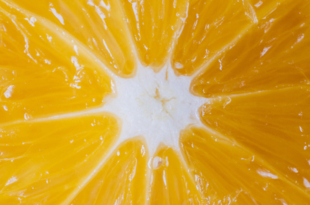 Close-up view on orange, photo background texture