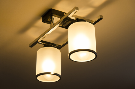 A Lighting lamp with bulbs in home