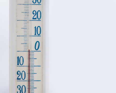 A home-used thermometer by a window in cold winter day Stock fotó