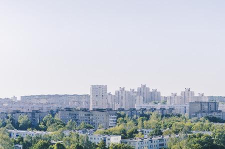 Summer city landscape,  europe, minsk - belarus.