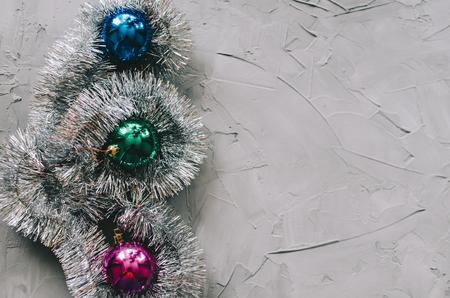 Christmas tree decoration on the vintage background Stockfoto - 117215571