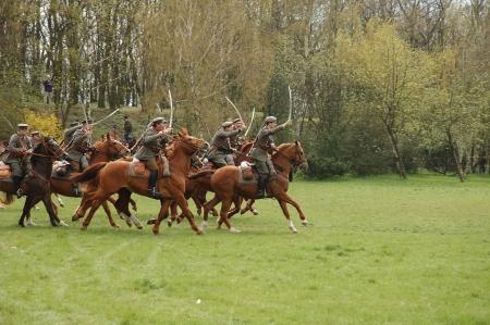 Polish lancers during lancer