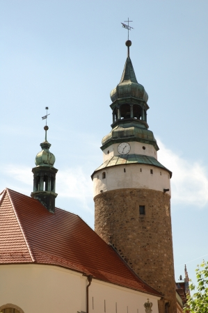 gora: Old church in Jelenia Gora city in Poland Stock Photo