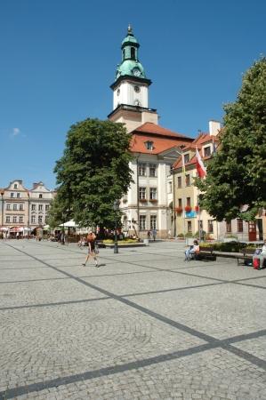 Marketplace in Jelenia Gora city in Poland