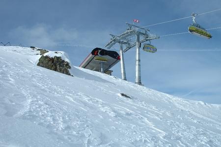 station ski: Ski lift end station nearby Kaltenbach in Zillertal valley in Austria Editorial