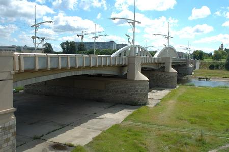 rocha: Saint Rocha bridge in Poznan, Poland Stock Photo