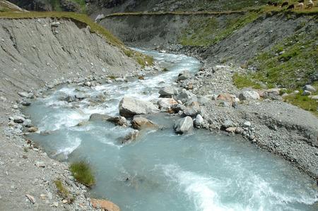 gill: Gill in valley nearby Steigletscher and Sustenpass in Alps in Switzerland.