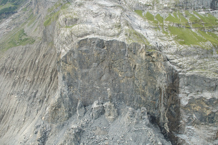 collapsed: Collapsed rock at Baregg nearby Grindelwald in Alps in Switzerland
