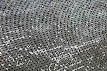 shingles: Old roof covered with shingles Stock Photo