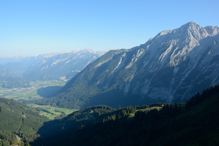at the highest: Peaks and valley - view from Highest panoramic road in Germany - Rofeldpanoramastrae