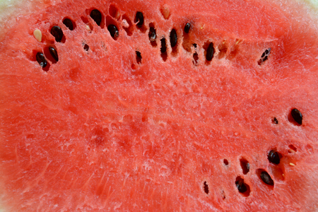 sweet pulp: Watermelon with seeds closeup Stock Photo