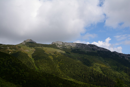 giewont: Giewont peak and clouds in Tatra mountains nearby Zakopane in Poland