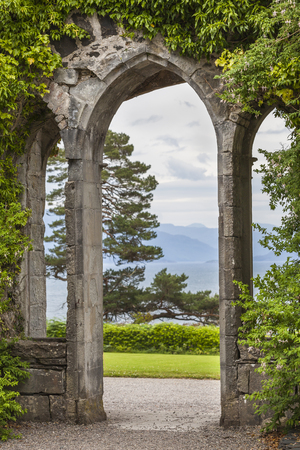 macdonald: Armadale Castle arch on the Isle of Skye.