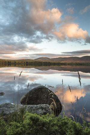 strathspey: Loch Garten in the Cairngorms National Park.