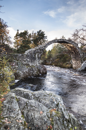 old packhorse bridge: Old packhorse bridge at Carr-bridge in Scotland.