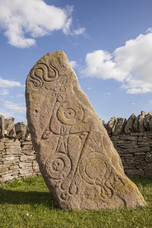 Aberlemno Pictish symbol Stone at Angus in Scotland.