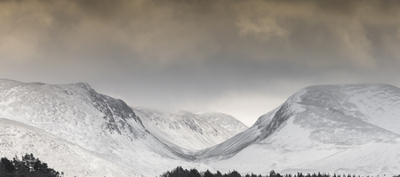 strathspey: Lairig Ghru Pass in the Cairngorms.