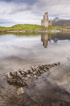 Ardvreck Castle in Sutherland, Scotland.