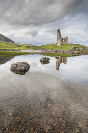 Ardvreck Castle on Loch Assynt in Scotland. Stock Photo