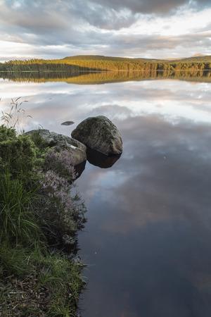 strathspey: Loch Garten in the Cairngorms National Park of Scotland.