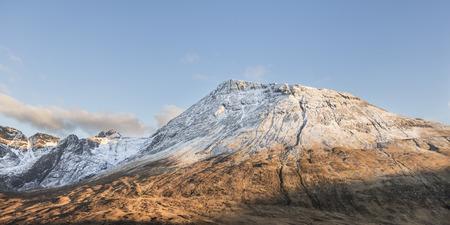 Mountain Ridge in the Cuillin on on the Isle of Skye in Scotland.