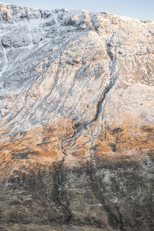 Mountain Ridge in the Cuillin on the Isle of Skye in Scotland. Stock Photo