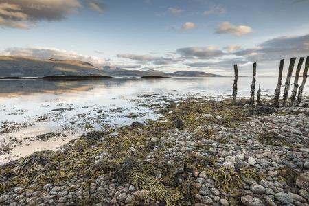 View across Loch Linnhe from Ardnamurchan in Scotland. Stock Photo