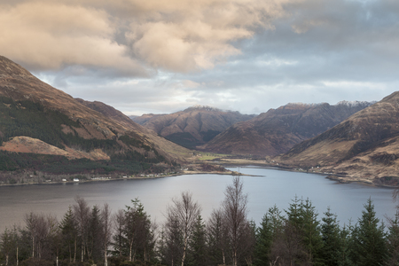Loch Duich & Mountains in Kintail National scenic area of Scotland. Stock Photo