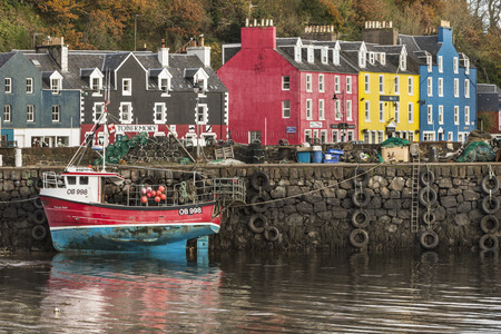 Tobermory harbour on the Isle of Mull in Scotland. Editorial