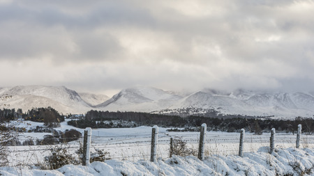 strathspey: Cairngorms & Lairig ghru pass in the  Cairngorms National Park of Scotland.