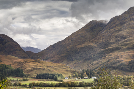View over Glen Ure in West Argyll in the Highlands of Scotland.