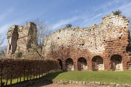 rosslyn: Rosslyn Castle Ruins at Roslin in Scotland.