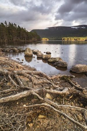 Loch an Eilein at Aviemore in the Highlands of Scotland.