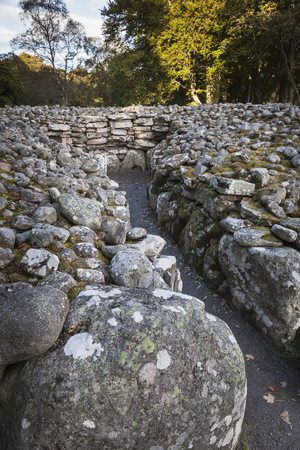 Neolithic Burial tombs at Clava Cairns in Scotland.
