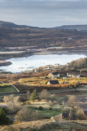 View over Dervaig & Loch Cuin on the Isle of Mull in Scotland.