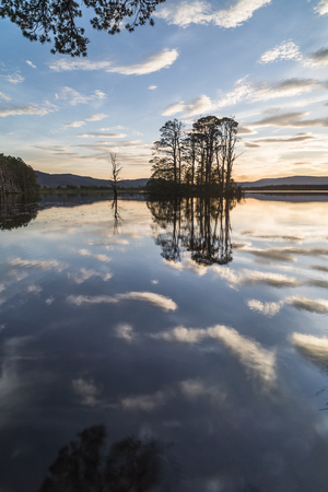 strathspey: Loch Mallachie in the Cairngorms National Park of Scotland.