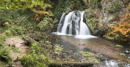 Waterfall in the Fairy Glen on the Black isle in Scotland.